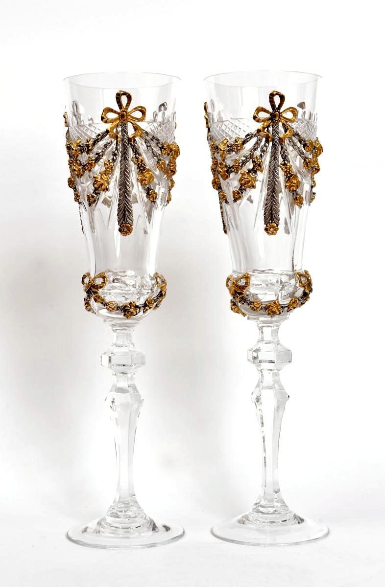 Хрустальные свадебные бокалы