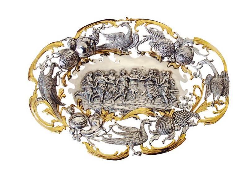 Серебряная посуда в стиле барокко