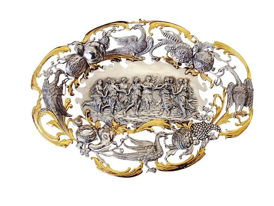 Эксклюзивная посуда из серебра